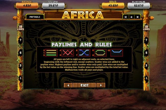 Africa :: Paylines 1-10