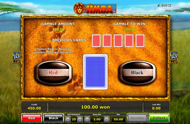 Winner Million featuring the Video Slots African Simba with a maximum payout of $25,000
