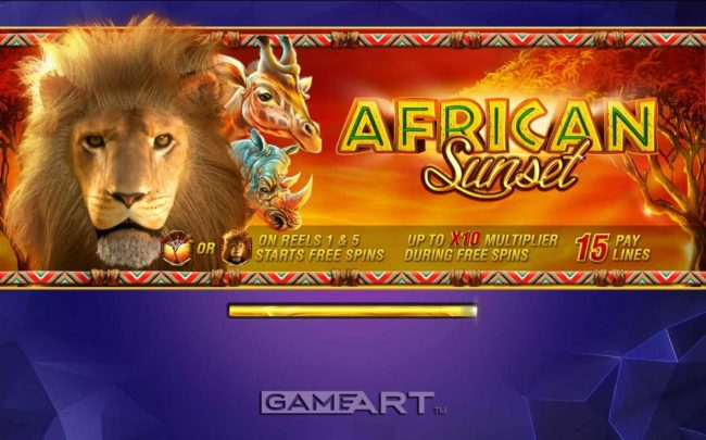 Joker Casino featuring the Video Slots African Sunset with a maximum payout of $15,000