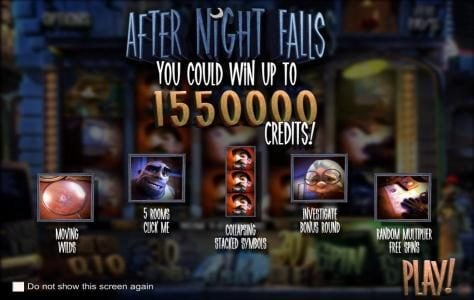 Thrills featuring the Video Slots After Night Falls with a maximum payout of $625