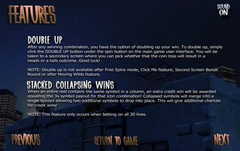 After Night Falls :: double up feature and stacked collapsing wins