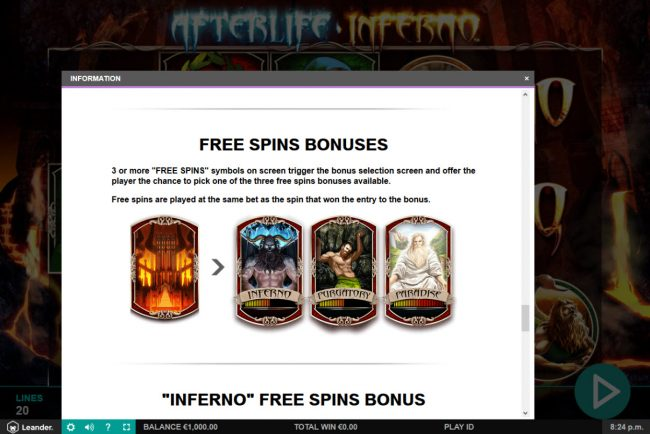 Red Queen featuring the Video Slots Afterlife Inferno with a maximum payout of $100,000