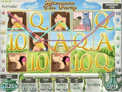 7Bit featuring the Video Slots Afternoon Tea Party with a maximum payout of $1,250