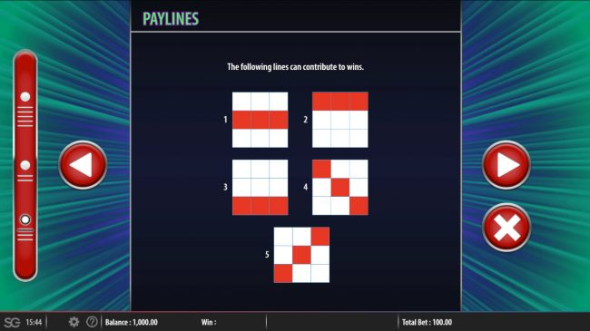 Aftershock :: Paylines 1-5