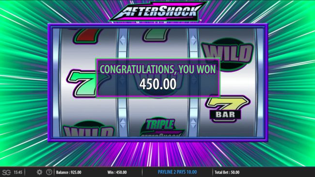 Aftershock :: Total Feature Payout