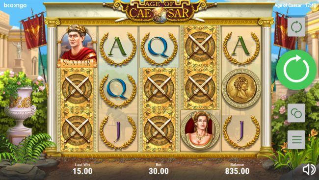 Age of Caesar :: Landing crossed swords mystery symbols on the reels