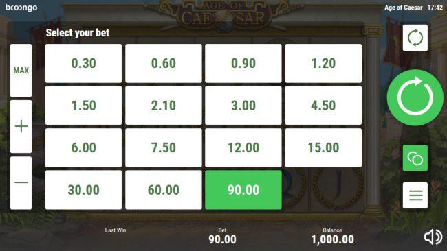 Age of Caesar :: Betting Options
