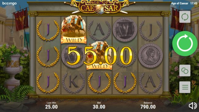 Age of Caesar :: Multiple winning paylines