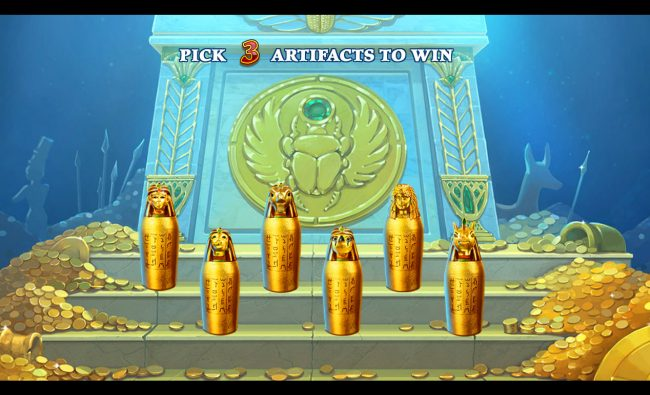 Age of Egypt :: Pick jars to reveal a prize award