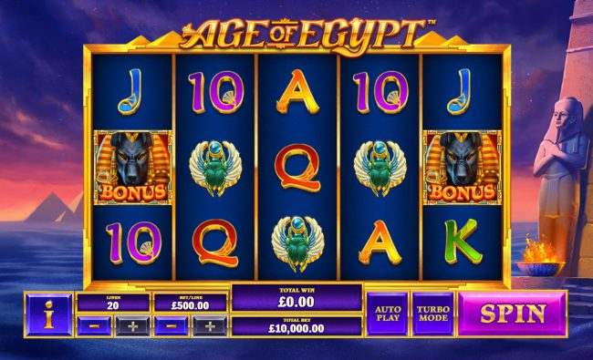 Play slots at Lota Play: Lota Play featuring the Video Slots Age of Egypt with a maximum payout of $5,000,000