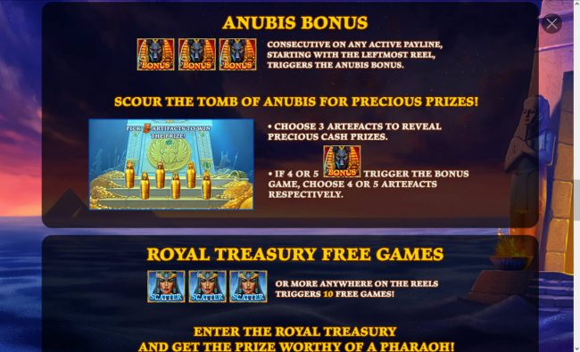 Age of Egypt :: Anubis Bonus Rules
