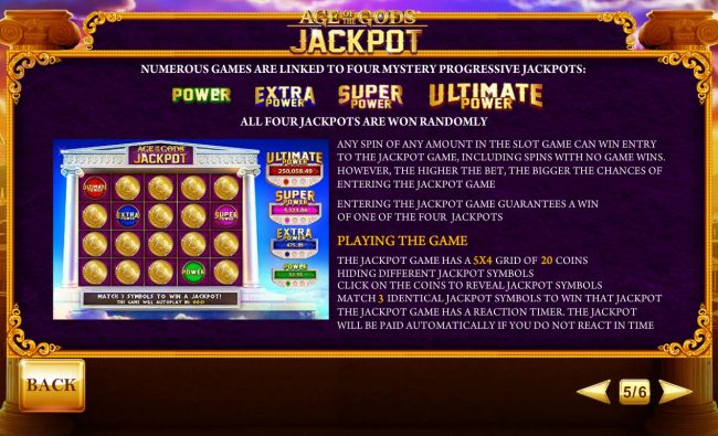 Age of the Gods Prince of Olympus :: Progressive Jackpot Rules