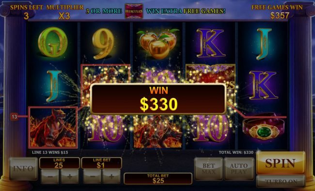 Age of the Gods Prince of Olympus :: Multiple winning paylines