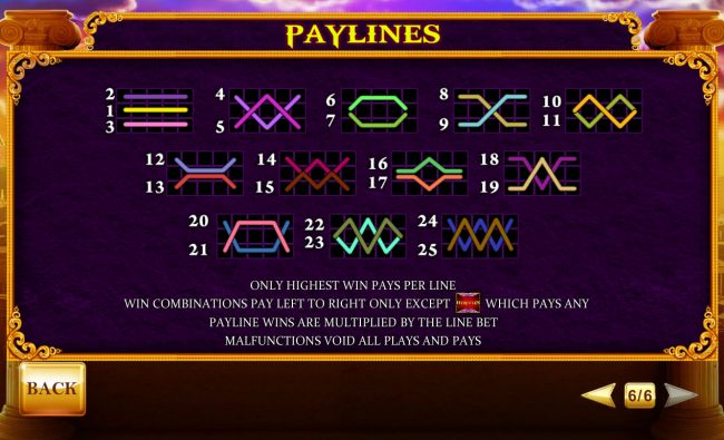 Age of the Gods Prince of Olympus :: Paylines 1-25