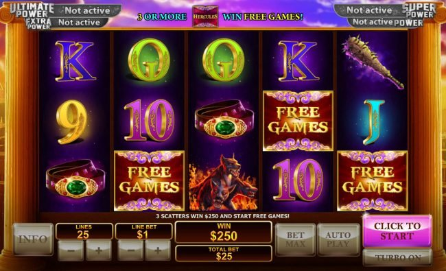 Omni featuring the Video Slots Age of the Gods Prince of Olympus with a maximum payout of $80,000