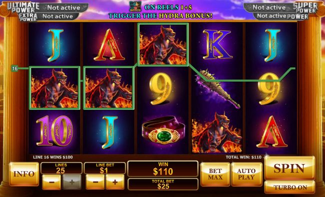 Winner Online featuring the Video Slots Age of the Gods Prince of Olympus with a maximum payout of $80,000