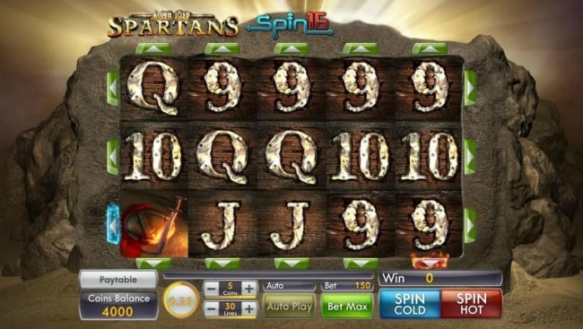 Play slots at Villa Fortuna: Villa Fortuna featuring the Video Slots Age of Spartans Spin 16 with a maximum payout of $5,000