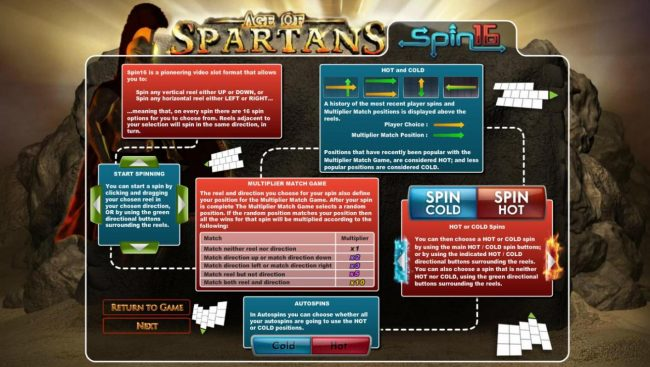 Roadhouse Reels featuring the Video Slots Age of Spartans Spin 16 with a maximum payout of $5,000