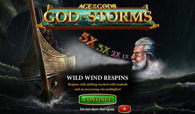 Play slots at Casino 765: Casino 765 featuring the Video Slots Age of the Gods God of Storms with a maximum payout of $25,000