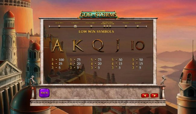 PropaWin featuring the Video Slots Age of the Gods God of Storms with a maximum payout of $25,000