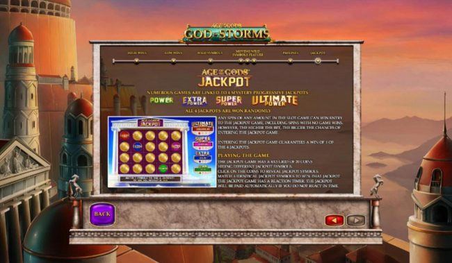 Age of the Gods God of Storms :: Jackpot Rules