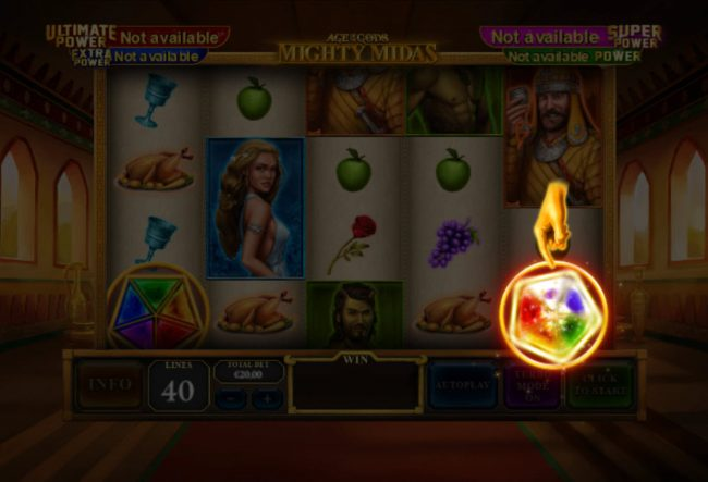 Club 777 featuring the Video Slots Age of the Gods Mighty Midas with a maximum payout of $1,000,000
