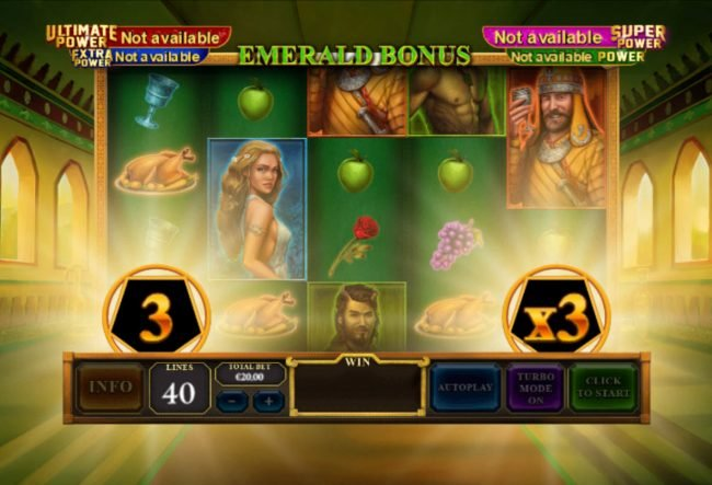 Crown Europe featuring the Video Slots Age of the Gods Mighty Midas with a maximum payout of $1,000,000