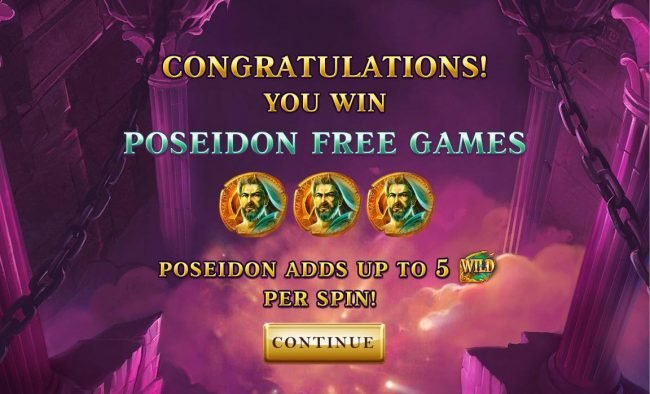 Poseidon Free Games with up to 5 wilds per spin.