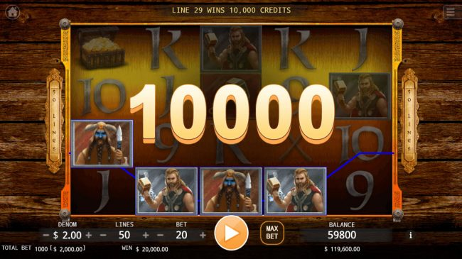 Age of Vikings :: Multiple winning paylines triggers a big win