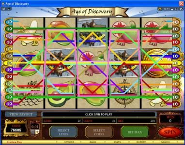 Golden Reef featuring the Video Slots Age of Discovery with a maximum payout of $50,000