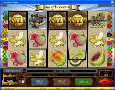 Betway featuring the Video Slots Age of Discovery with a maximum payout of $50,000