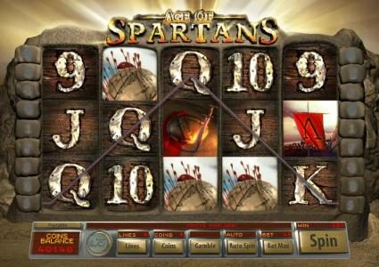 Jumba Bet featuring the Video Slots Age Of Spartans with a maximum payout of $12,500