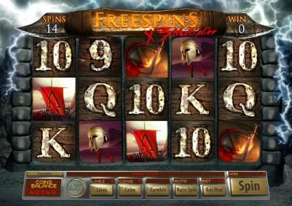Villa Fortuna featuring the Video Slots Age Of Spartans with a maximum payout of $12,500