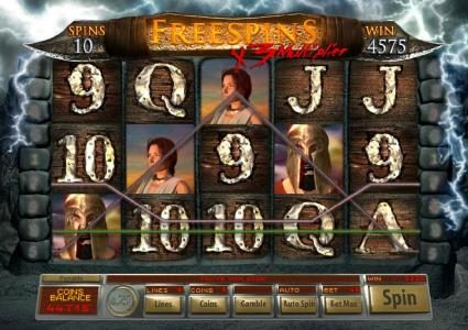 Bella Vegas featuring the Video Slots Age Of Spartans with a maximum payout of $12,500