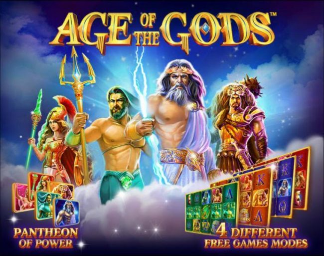 Play slots at Casino.DK: Casino.DK featuring the Video Slots Age of the Gods with a maximum payout of $250,000