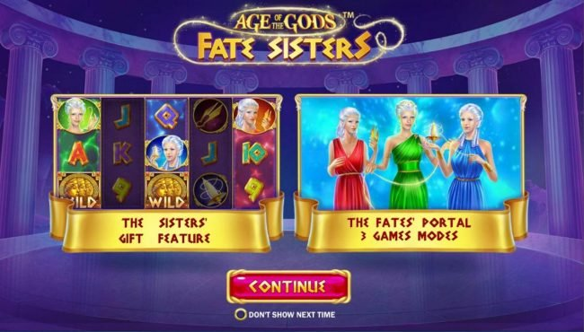 Play slots at 21 Nova: 21 Nova featuring the Video Slots Age of the Gods Fate Sisters with a maximum payout of Jackpot