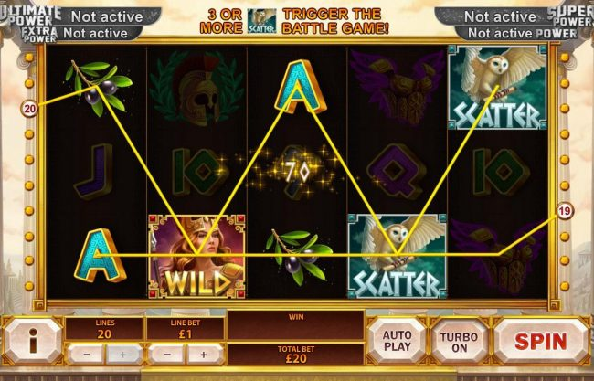 Magic Red featuring the Video Slots Age of the Gods Goddess of Wisdom with a maximum payout of Jackpot