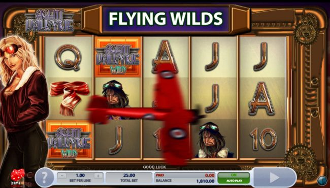 Dream Vegas featuring the Video Slots Agent Valkyrie with a maximum payout of $625,000
