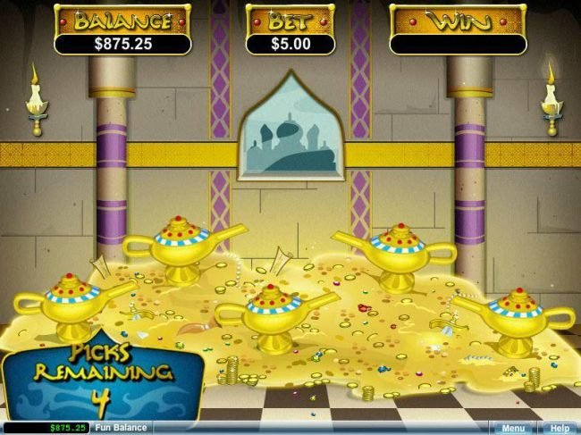 Cherry Red featuring the video-Slots Aladdin's Wishes with a maximum payout of $250,000