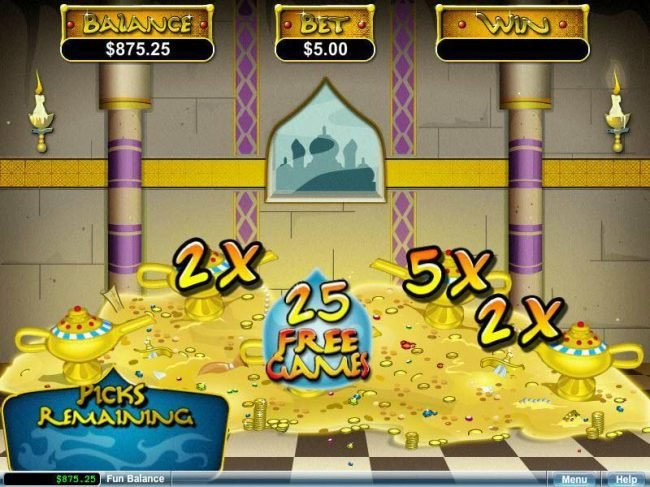 Cool Cat featuring the video-Slots Aladdin's Wishes with a maximum payout of $250,000