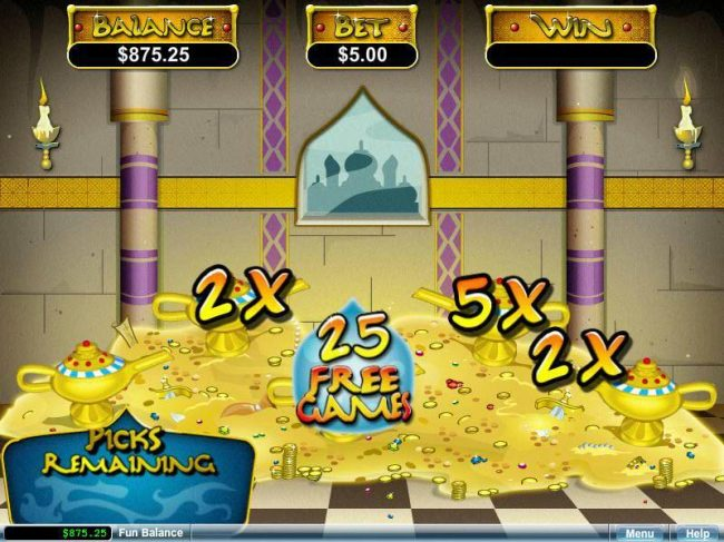 ReelSpin featuring the video-Slots Aladdin's Wishes with a maximum payout of $250,000