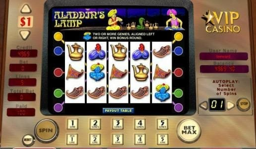 Royal Panda featuring the video-Slots Aladdin's Lamp with a maximum payout of 5,000x