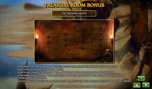 Aladdin's Legacy :: treasure room bonus rules