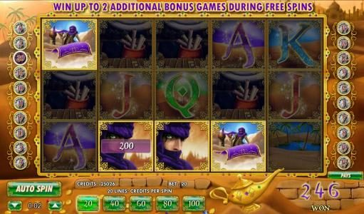 multiline win triggers 246 coin jackpot