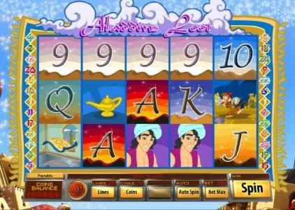 Play slots at Villa Fortuna: Villa Fortuna featuring the Video Slots Aladdin's Loot with a maximum payout of $7,500