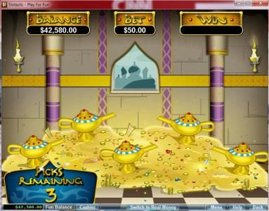 Slots of Vegas featuring the video-Slots Aladdin's Wishes with a maximum payout of $250,000