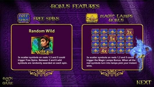 Aladin's Lamp :: free spins and magic lamps bonus rules