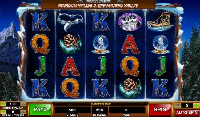 Play slots at Vegas Winner: Vegas Winner featuring the Video Slots Alaskan Husky with a maximum payout of $100,000