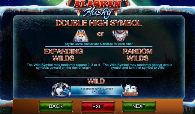 Casino Red Kings featuring the Video Slots Alaskan Husky with a maximum payout of $100,000