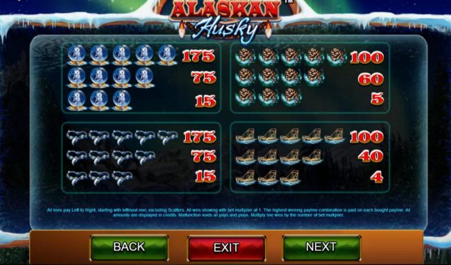 Leo Vegas featuring the Video Slots Alaskan Husky with a maximum payout of $100,000
